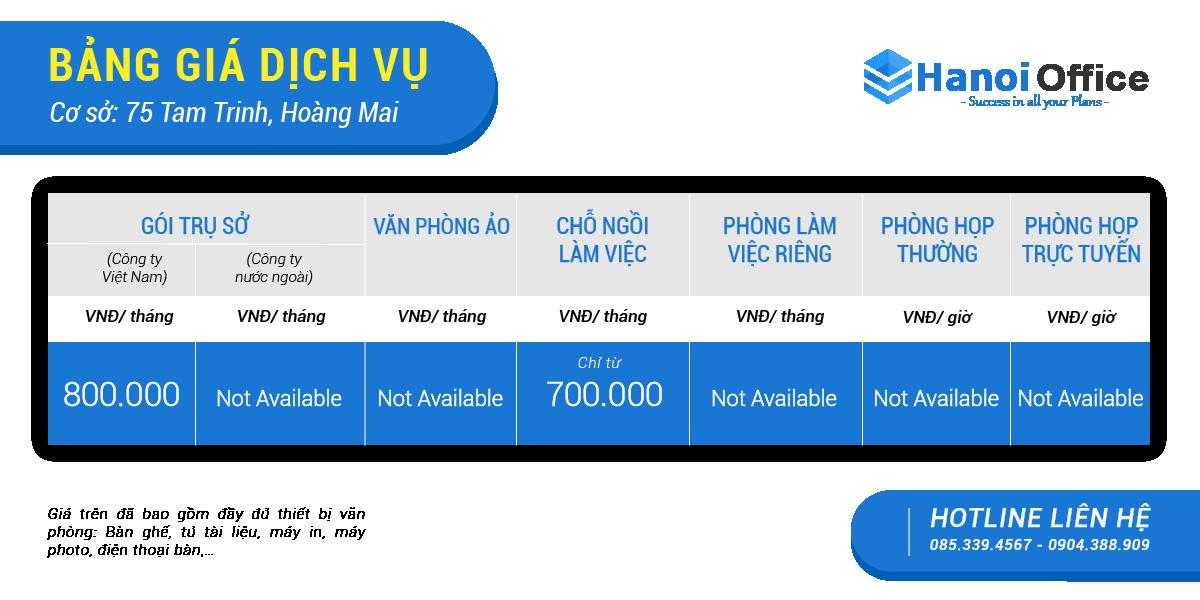 Báo giá Tam Trinh - Hoàng Mai